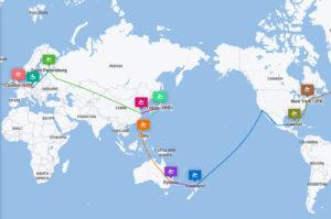 Letenky na cestu kolem světa mapa